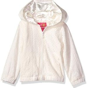 Pink Platinum Girls Lace Embroidered Jacket New 4T